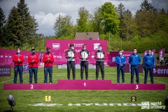 Jonny Maier beim Weltcup Bogen Lausanne 2021 - Mannschafts-GOLD